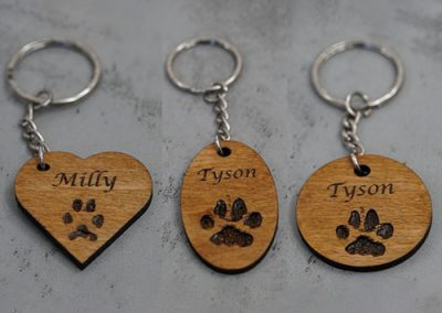 Laser Engraved Wooden Keyrings