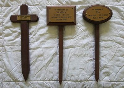 Wooden Lawn Markers