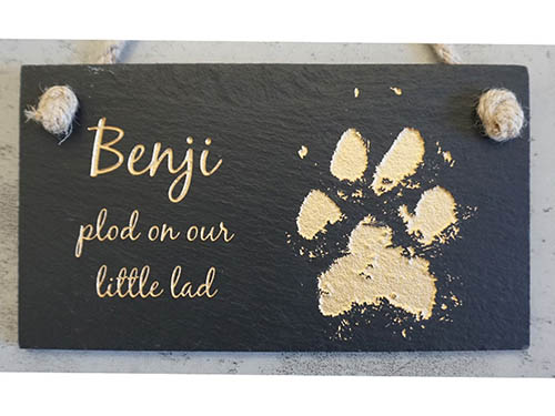 Hanging Slate Plaque Small