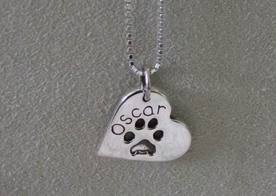 Paw Print Necklace/Keyring (Sterling Silver)