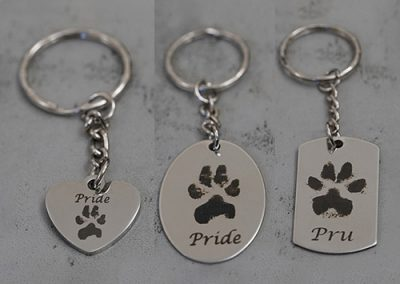 Laser Engraved Metal Keyrings