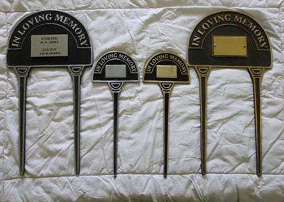 Brass/Aluminium Lawn Markers